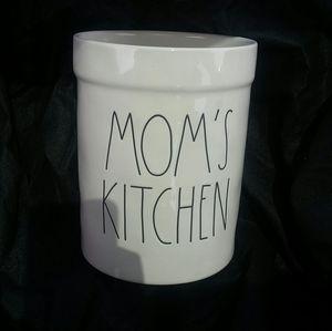 Rae Dunn Mom's Kitchen Utensils Canister